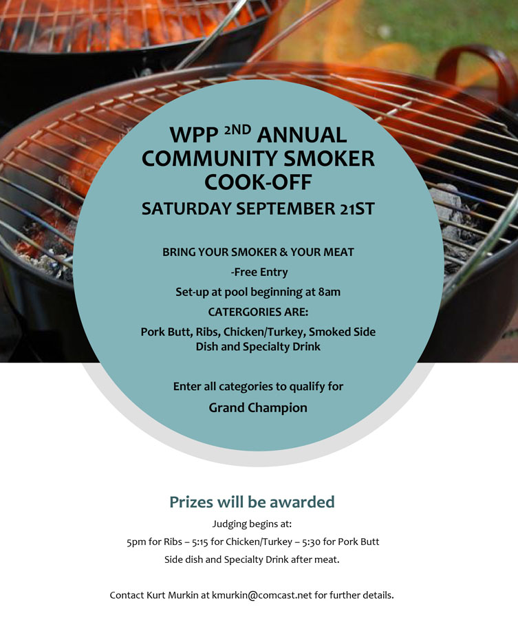 Second Annual Community Smoker Cook-Off September 21