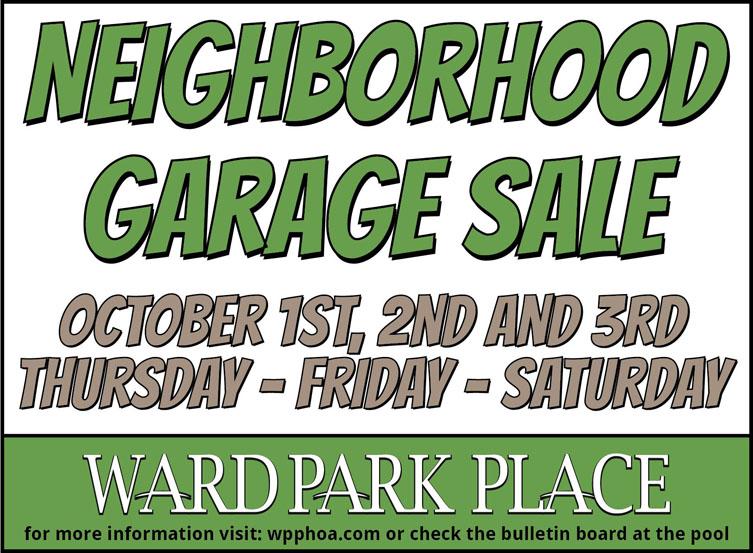Fall Neighborhood Garages Sale October 1-3